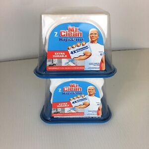 Mr. Clean Magic Eraser Pads 7 Ct  Extra Durable Cleaning with Durafoam  (2packs)