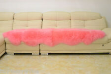 180x65cm Double Pelt Pink Sheepskin Rug Real Australian 6'x2'Lambskin Fur Carpet