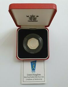 Royal Mint - 1998 NHS - Silver Proof Piedfort Fifty Pence 50p Coin