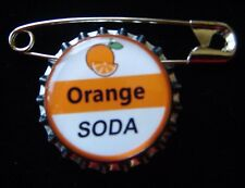 1 Orange Soda Bottle Cap Pin Inspired by Up