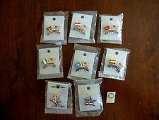 Vintage Seattle Goodwill Games, 1990, Olympics, Tack pins, Lot of 9, New