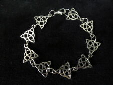 Pretty Wiccan Triquetra Bracelet silver colour goddess wicca pagan handmade