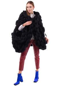 RRP €3820 NOIR KEI NINOMIYA COMME DES GARCONS Braided Jacket Size S Wool Blend