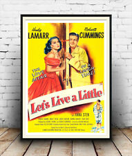 Lass uns Leben ein wenig: Vintage Film Werbung, Plakat Reproduktion.
