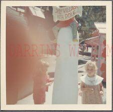 Unusual Vintage Photo Finger Bomb Santas Christmas Village North Pole 713576