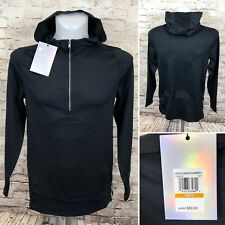 Under Armour Athlete Recovery 1/2 Zip Track Hoodie 1325276-001 Black Size Small