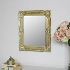 ORnate gold wall mirror vintage French chic decor living room hallway display