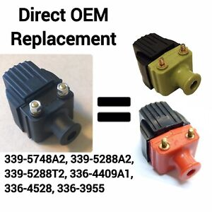 ***NEW***GREEN AND ORANGE/RED COIL REPLACEMENT! Mercury Outboards 339-5288T2