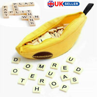 New Bananagrams Word Game Puzzle Kids Party Fun Toy Case Activity Letter Pouch