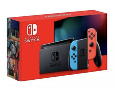 NEW AMAZON NINTENDO SWITCH WITH NEON BLUE & RED JOY CON HAC-001 READ DESC!