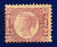 1870 SG49 ½d Rose Plate 8 RD Clear Portrait Fine Used CV £120 cbsk