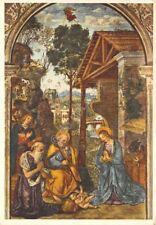 Cartolina Illustrata Pinturicchio Il Presepio Timbro Buon Natale 1958