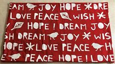 Very Rare Pottery Barn Christmas Pillow Cover with Holiday Messages