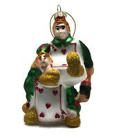 "Paul Cardew ALICE IN WONDERLAND Card Man Cardman Christmas Holiday Ornament 4"""