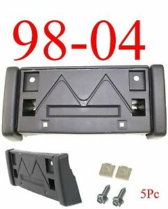 GM1068107  5Pc 98 04 Chevy S10 Front License Plate Bracket, Includes Hardware