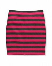 Above Knee Straight, Pencil Machine Washable Striped Skirts for Women