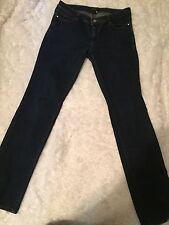 White House Black Market Straight Leg Dark Women's Jeans 8 Regular