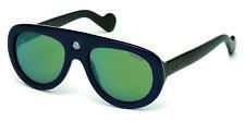 New Moncler Blanche Sunglasses ML 0001 92Q Blue/Gren w/Gray Green Mirr lens 55mm