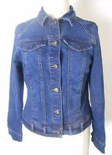 GLORIA VANDERBILT Jean Jacket Size S Blue Stretch Denim Fitted
