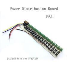 18CH 5V12V24V Power Supply Distribution Board Centralized Outp Distributor Plate