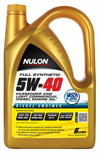 Nulon Full Synthetic Passenger and Light Commercial Diesel Eng Oil 5W-40 6L S...