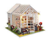 DIY Dollhouse Miniatures Cake Shop Wooden Kits LED Children Xmas Birthday Gift