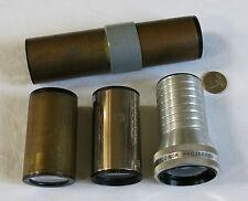 4 OBJECTIFS CINÉMA, objectif ancien, cinéma, projection, BERTHIOT CINOR 65mm 1.5