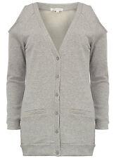 Cardigan pullover grigio cut out spalle scoperte shoulder glamorous maglia 42 Jo