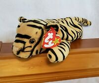 "Ty Stripes the Tiger 8.5"" Original Beanie Babies Collection w/ Tag 1995 Retired"