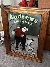 More details for vintage andrews liver salts mirror pub bar