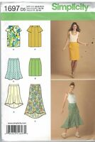 1697 UNCUT Simplicity Pattern Misses Skirt with length variations long short