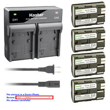 Kastar Battery Dual Fast Charger for Canon BP-511 CB-5L EOS 40D EOS 50D EOS D30