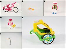 PLAYMOBIL VINTAGE 3068 BIKE WITH TRAILER WOMAN GIRL TEDDY BLINKER - PARTS-CHOICE