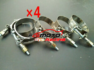 """4X 2.5"""" Stainless Steel T-Bolt Clamps Turbo Intake Silicone Hose Coulper 66-74mm"""