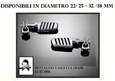Pedane pedalini riposo guidatore paramotore gomma cromate clamp Ø 22-25-32-38 mm