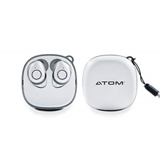 New listing Atom My Buds Wireless Bluetooth Earbuds - Comes with Charging Pod Case - 4+ of