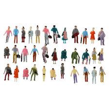 100pcs Painted Model Train Passenger People Figures Scale 1:150 Q6R7