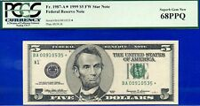 1999 $5 FRN ** STAR ** (( Grade Rarity )) PCGS Superb-Gem 68PPQ # BA00910535*