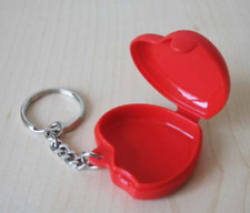 Tupperware Key Chain Keychain Collector's Item Red Heart Locket Keeper New