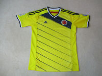 Adidas Columbia Soccer Jersey Adult Extra Large Yellow Blue Futbol Football *