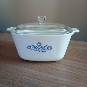 Corning Ware Pyrosil Blue Cornflower 2.5 pt. Casserole Dish and Lid 912 700
