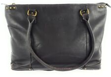 Women's Solo Laptop Case Computer Shoulder Business Tote Bag Brown Leather