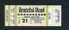 Original 1976 Grateful Dead Unused Concert Ticket Upper Darby Pa Jerry Garcia