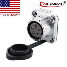 5 Pin Power Signal Industrial Connector Female Socket Outdoor Waterproof IP67