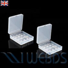 2 X Clear Battery Case for 4x18650 Batteries Protective Travel Box Holder New