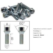 10 BOULONS DE ROUE ASSISE CONIQUE M12 x 1,5 - 45MM