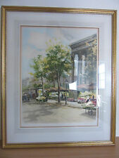 "Charles Blondin Etching ""Paris, Madeleine"" #333/350A Signed 22""x27"" Purnell Art"