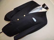 "Exquisite Faconnable 100% wool super 100""s men's Blue Blazer 42 regular"