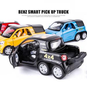 1:32 Mercedes Benz Smart 4X4 Pickup Diecast Model Car Toy Collection Sound&Light