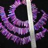 Purple titanium rainbow aura lemurian quartz crystal point 50g 8-12pcs H204